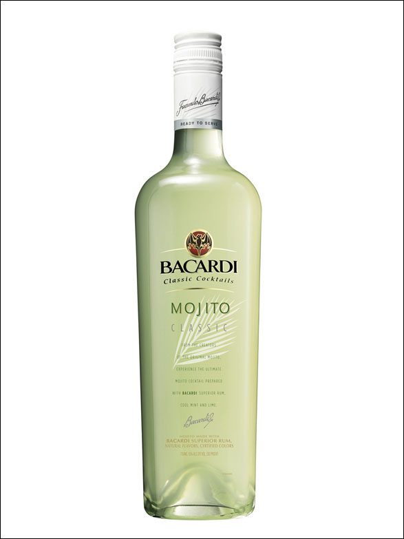 Bacardi mojito ready to serve