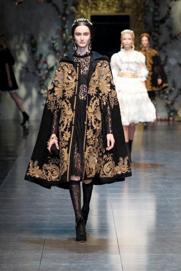 D g women fw 2013 baroque romanticism twisted lifestyle for Baroque lifestyle
