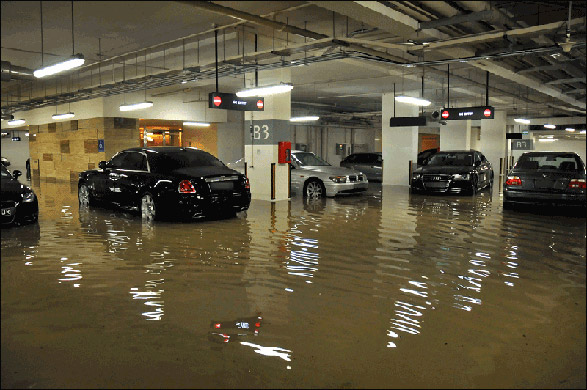 Parking Garage With Luxury Cars Flooded Twisted Lifestyle